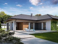 Need a new garden or home design?Here you can find interior and exterior design, front and back yard layout ideas. Modern Family House, Modern House Plans, Exterior Colors, Exterior Design, Bungalow House Design, Southern Homes, Facade House, Home Fashion, House Colors
