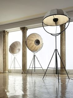 Fortuny - direct the light to where you need it - for different ambiences - these are lovely!  :)