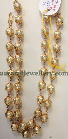 Jewellery Designs: Double Layer Pearls Baby Necklace