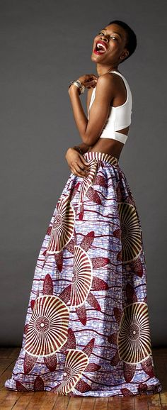 Cassada Maxi. The Cassada Maxi skirt is a classic full skirt gently gathered and sits comfortably at the waist. The Cassada maxi skirt is a wardrobe must! African fashion, Ankara, kitenge, African women dresses, African prints, African men's fashion, Nigerian style, Ghanaian fashion, fashion blogger (affiliate)