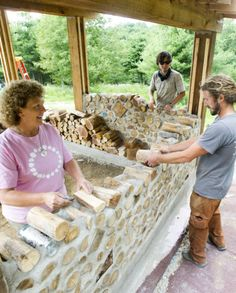 FOUNTAIN CITY, Wis. — Richard Flateau built a cordwood home 35 years ago as an eco-friendly way to live mortgage free.