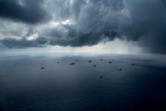 Tormid üle harjutuskakadu laevastiku põhjaosa ranniku lähedal