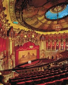 The Fabulous Fox Theatre in St. Louis is breathtaking. This is what gorgeous restoration looks like. Watching a performance here is a must.