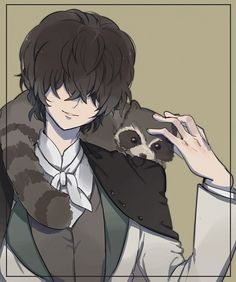 Tags: Anime, Pixiv Id 2765210, Bungou Stray Dogs, Edgar Allen Poe (Bungou Stray Dogs), Raccoon
