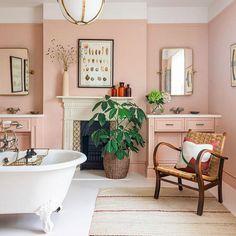 Blush Bathroom, Cosy Bathroom, Bathroom Goals, Family Bathroom, Pink Bathroom Paint, Bathroom Ideas, Bathroom Inspo, Feminine Bathroom, Pink Bathrooms