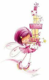 """from album """"Художник-иллюстратор Марина Федотова"""" on Party FairyParty Fairy Happy Birthday Wishes, Birthday Greetings, Birthday Cards, Birthday Gifts, Happy Birthday Images, Birthday Ideas, Happy B Day, Cute Illustration, Digital Stamps"""