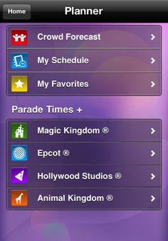 Let your smart phone do the planning for you  - the Undercover Tourist app is your guide to theme park fun! Create the perfect schedule on the go.