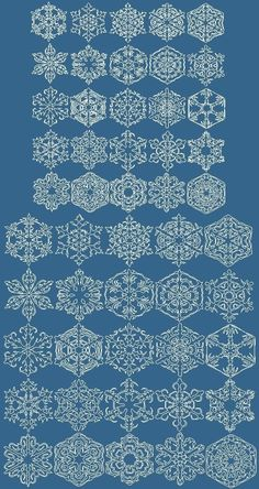 Advanced Embroidery Designs - Small Snowflakes Redwork Set