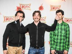 SOMETHING ROTTEN star Christian Borle stands front and center on the red carpet (sorry, Brian d'Arcy James & John Cariani!)