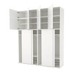 PLATSA armoire-penderie, blanc, Fonnes blanc Largeur: 240.0 cm Profondeur: 61 cm Hauteur: 293.5 cm