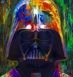 Darth Vader from Star Wars In the style of my other piece Darth Maul as requested Nicky Barkla Facebook Art Page