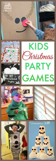 10 Fun Kids Christmas party games. A super selection of festive fun for kids of all ages with low prep and high excitement to make any seasonal party go off wit