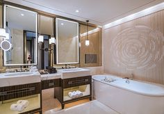 Bathroom at The Grand Mansion, A Luxury Collection Hotel, Nanjing by HBA Design.