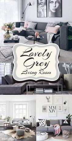 Inspiring Grey Living Room Design Ideas