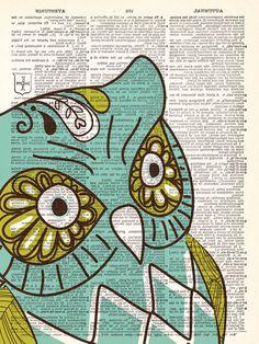 Sweet Owl Vintage Dictionary Print Vintage by TheRekindledPage