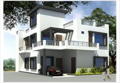2 story house with balcony small 2 storey house plans Duplex house plans indian style