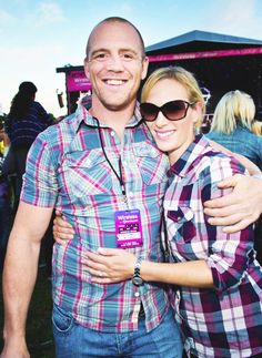 anythingandeverythingroyals:  The Tindalls in Plaid-Mike and Zara