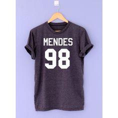 Mendes 98 Shirt T Shirt T-Shirt TShirt Tee Shirt Unisex Shawn Shirt... (25 AUD) ❤ liked on Polyvore featuring tops, t-shirts, purple top, t shirts, unisex tops, purple shirt and purple t shirt