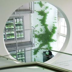 Loving the use of the company's product to create an eye-catching art piece.  Heineken The City by Tjep.