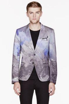 DIESEL Purple Mountain print THESSENA blazer