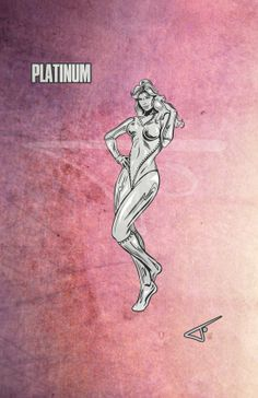 62. Platinum. DC character daily challenge 2014 by Journey Studios