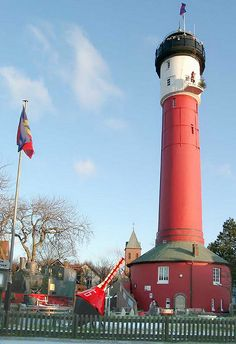 Alter Leuchtturm (Old Lighthouse) on the Island of Wangerooge, Germany Beacon Of Hope, Beacon Of Light, Water Pictures, Safe Harbor, Light Of The World, Am Meer, Light House, Places To Visit, Lower Saxony