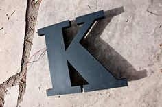 Vintage Sign Letter Capital K by typos on Etsy, $39.99