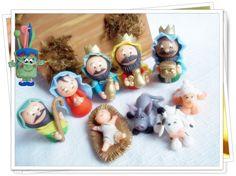Presépio em biscuit miniaturas | By Ana Paula Wanderley | Elo7