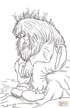 Troll Coloring Pages. Norwegian Troll Coloring Page Printable Pages Lg Washer Leaking Avanti Portable Washing Machine Wont Drain Manual Smells Whirlpool Pump Pan Rough In When Was The Invented Pressure Mandala Coloring Pages, Coloring Book Pages, Coloring Pages For Kids, Pokemon Coloring, Troll Dolls, Thinking Day, Free Printable Coloring Pages, Fairy Tales, Sketches