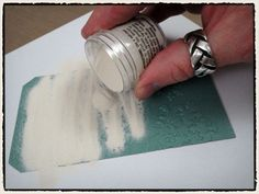 How to use embossing powder with an embossing folder
