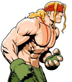 Alex from Capcom Fighting Evolution ✤ || CHARACTER DESIGN REFERENCES | キャラクターデザイン | çizgi film • Find more at https://www.facebook.com/CharacterDesignReferences & http://www.pinterest.com/characterdesigh if you're looking for: bande dessinée, dessin animé #animation #banda #desenhada #toons #manga #BD #historieta #sketch #how #to #draw #strip #fumetto #settei #fumetti #manhwa #cartoni #animati #comics #cartoon || ✤