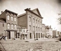 Here for your perusal is a rare photograph of Ford's Theatre, Washington., D.C.  It was created between 1860 and 1865 by Mathew Brady.The photograph illustrates location where Abraham Lincoln was shot in 1865, showing what the area looked like at the time of the assassination.