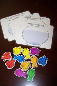 Fish bowl counting activity  or feed the fish with matching sight word flakes