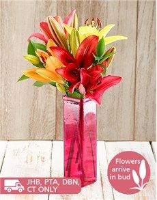 Birthday Gifts For Her Flowers Loving Lily Arrangement Love Cheap