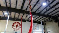 Aerial Silks Practice: Triple Star Drop