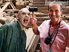 Fotos retratam os bastidores dos filmes da saga Harry Potter
