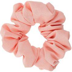 Miss Selfridge Pastel Pink Hair Scrunchie (€3,60) ❤ liked on Polyvore