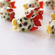 1 Lampwork Glass Fish Red Fin Bead Charm size 17x24mm by luibeads on Etsy https://www.etsy.com/listing/493448824/1-lampwork-glass-fish-red-fin-bead-charm