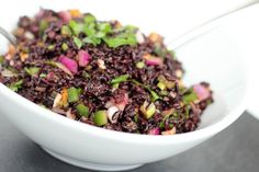 Black Rice and Mango Salad