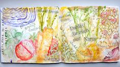 space-journal - artist's journal, photographie, mixed media:  Sketching in the kitchen