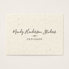 Trendy Speckled and Lux Business Card - stylist business card business cards cyo stylists customize personalize