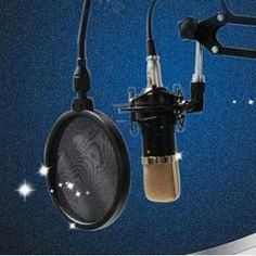 Bluecell 6 inch Studio Microphone Mic round shape wind Pop Filter Mask Shield stand clip Diy Vocal Booth, Studio Equipment, 6 Inches, Filters, Shapes, Pop, Craft, Music, Musica