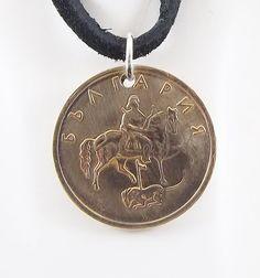 Horse Coin Necklace Bulgaria 5 Stotinki Coin by AutumnWindsJewelry