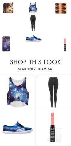 """""""GALAXY is awesome :D"""" by funny-babe02 on Polyvore featuring Vans and NYX"""