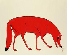 Red Fox (2012) by Kenojuak Ashevak, Inuit artist (CD2012-04)
