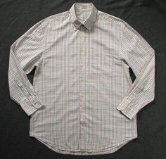 PETER MILLAR MENS L large TATTERSALL PLAID BUTTON SHIRT #PETERMILLAR #ButtonFront