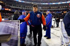 #Isles Head Coach Jack Capuano headed to the bench at the 2014 Coors Light NHL Stadium Series at Yankee Stadium. Click the link to purchase the same jacket worn by Jack Capuano at the game!