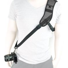 Introducing MegaGear Single Shoulder Neoprene Neck Strap Belt For Camera SLR DSLR Black. Great product and follow us for more updates!