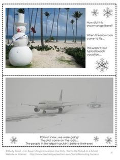 "FREE Winter Writing: Here are six winter writing photos to help your students with creative writing. Each card has three writing prompts. ....Follow for Free ""too-neat-not-to-keep"" teaching tools & other fun stuff :)"