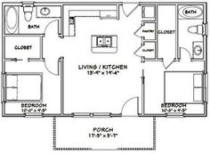Granny pods layout Excellent floor plans - house plans A house, or domicile, is Metal Building Homes, Building Plans, Building A House, Faux Brick Panels, Brick Paneling, Pool House Plans, Small House Plans, 2 Bedroom House Plans, Mother In Law Cottage